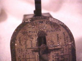 Vintage 1899 Crescent Brand Postal Scale All Metal Lqqk photo