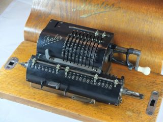 Thales Adding Machine Model A (1) In Wooden Case,  Rechenmaschinen photo