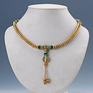Chinese Exquisite Brass Handwork Necklaces & Pendant photo