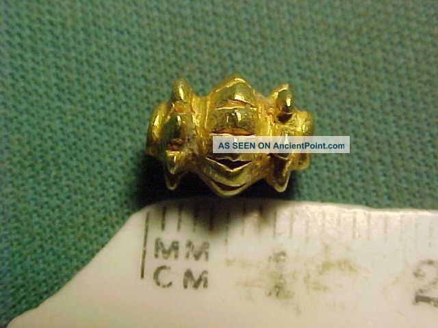 A Sassanian Solid Gold Bead Circa 224 - 642 Ad Near Eastern photo