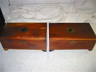 Antique Cedar Jewelry Box - Victorian - Decorative - Trinket Chest - Wood - Vtg?for Twins photo