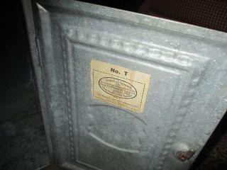 Vtg Primitive Home Comfort Metal/tin Pie Safe/bread Box Cabinet photo