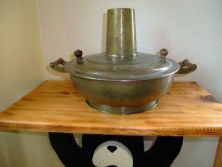 Antique Hand Made Brass Primitive Stove Top Pan / Cake / Cornbread Interesting photo