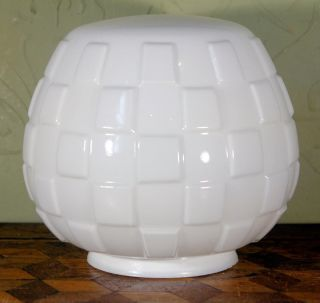 Vintage Art Deco Milk Opaque Glass Globe Lamp Grenade Light Shade Wow photo
