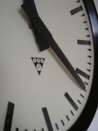 Pragotron Vintage Bakelite Industrial Clock Factory 32 Cm Depth 6 Cm photo