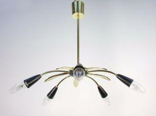 Vintage Mid - Century Modern Italian 5 - Arm Sputnik Spider Chandelier,  1950s photo