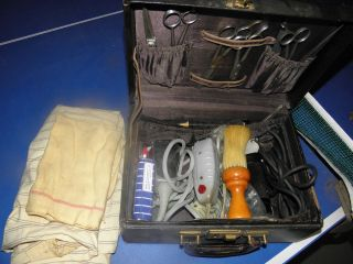 1920 ' S - 30 ' S Traveling Barber Kit Dubl Duck Andis Oster Outliner Razors Shearers photo