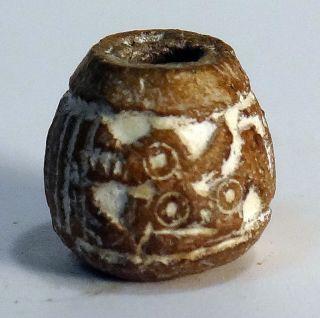 Pre - Columbian Brown Fox Bead.  Guaranteed Authentic. photo