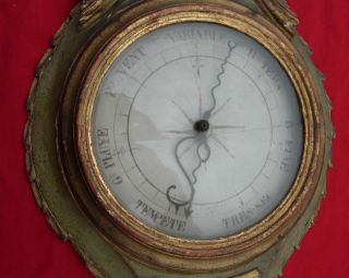 Rare Antique Louis Xvi Barometer Thermometer French Paris France photo
