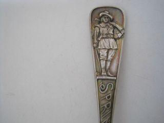 Durgin 1 Oz.  Sterling Silver Springfield Medicine Spoon 5 7/8