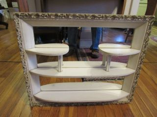 Vintage Shabby Chic Illinois Moulding Windsor Mode Mirrored Shadow Box photo