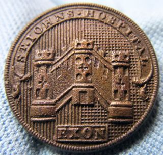 C.  1847 - 1887 Uniform Button St.  John ' S Hospital Exon Exeter School? - Sherlock &co photo