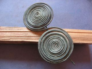Bronze Age Spiral Fibula Ancient Celtic Bronze Brooch 900 - 750 B.  C photo