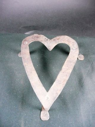 Hand Forged Iron Heart Trivet photo
