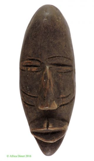 Dan Passport Portrait Mask Cote D ' Ivoire African Art Was $29 photo