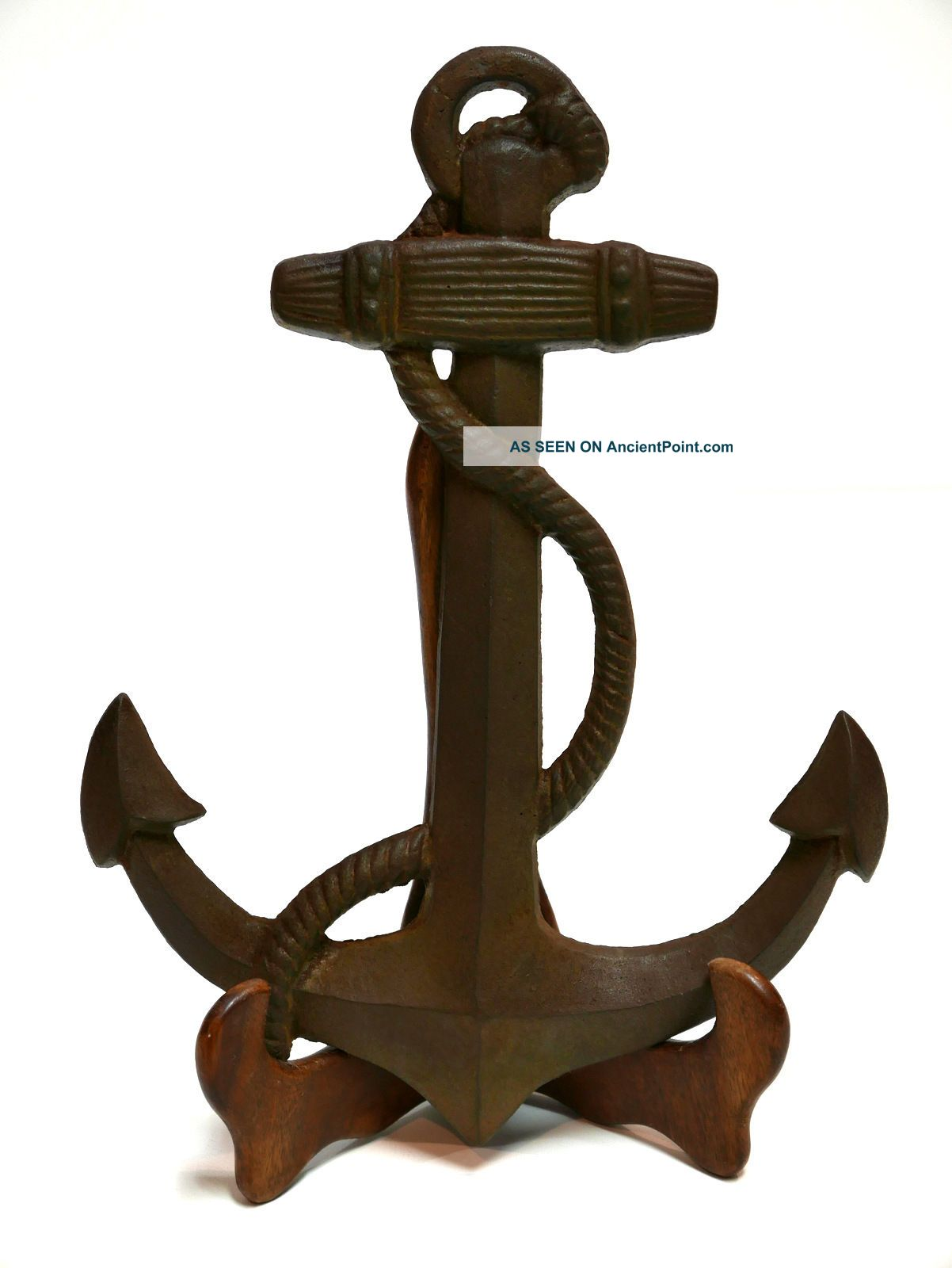 Rustic Ship Iron Anchor Decorative Wall Yard Art Nautical