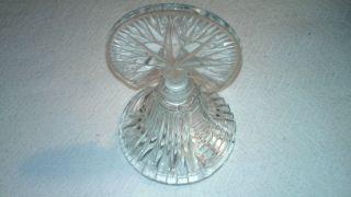 Antique Vintage Art Deco Glass Perfume Bottle Flat Cut Bevel Ground Star Stopper photo