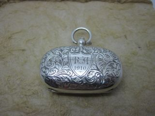 Sterling Silver Double Sovereign Holder,  Chester 1909 photo