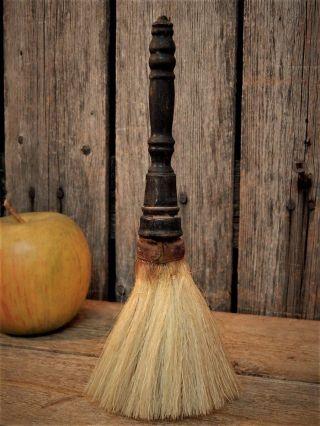 Rare Early Antique Turned Wood Horse Hair Barber Shop Brush Aafa photo