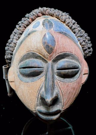 Old Tribal Chokwe Rasta Mask - - - - Angola Bn 25 photo