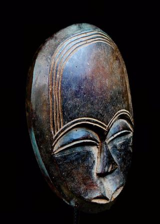 Old Tribal Kwele Mask - - - - - Gabon Bn24 photo