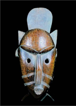 Old Tribal Bamana Mask - Mali Bn14 photo