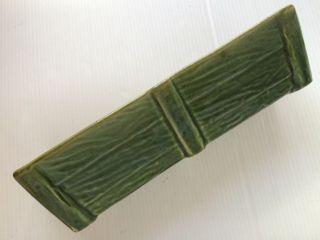 Rare Vintage Mid Century Modern Succulent Planter Rectangular Green Wood Ceramic photo
