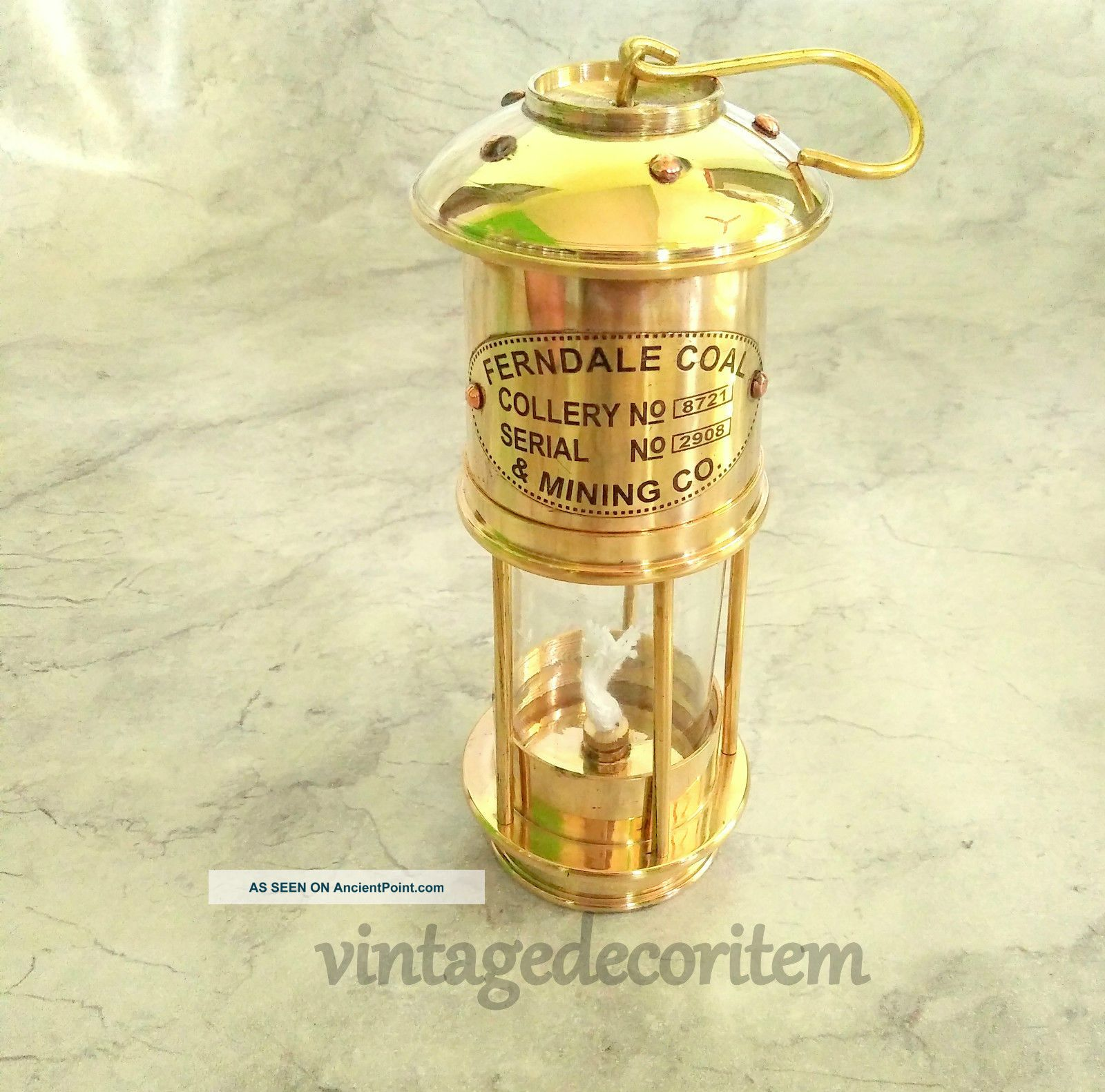 Vintage Style Nautical Minor Ship Lantern Oil Lamp 7