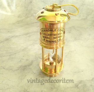 Vintage Style Nautical Minor Ship Lantern Oil Lamp 7