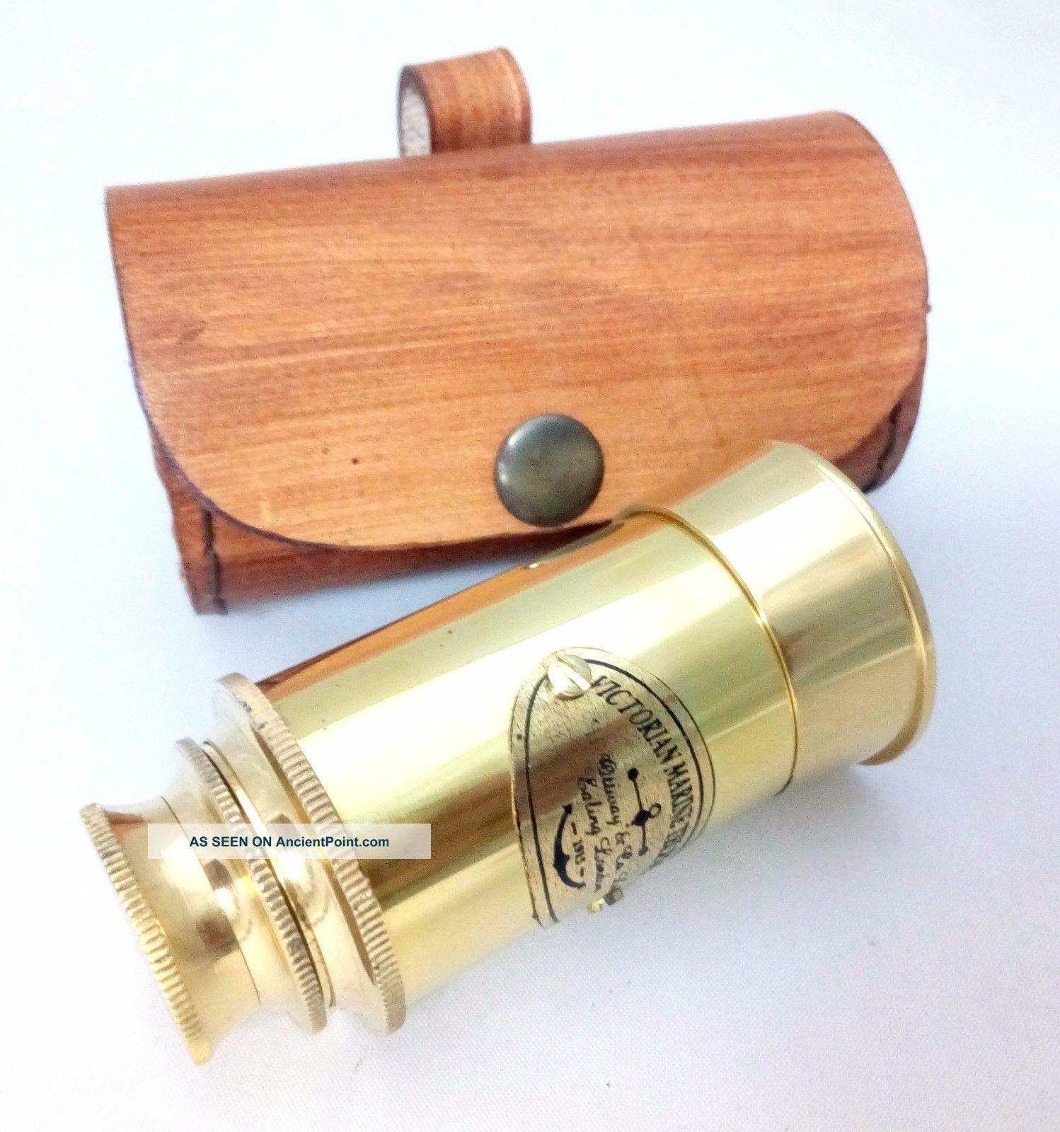 Artshai Antique Look Pirate Maritime Nautical Telescope With Leather Cas Telescopes photo