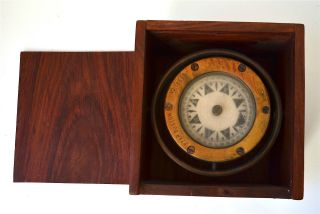 S.  S.  Atlantic 1905 Compass Star Boston No.  18586 In Wooden Box photo