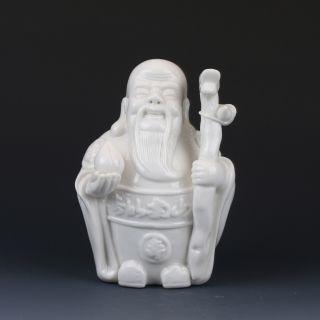Chinese Dehua Porcelain Handwork Statues - - Longevity Of The Elderly G224 photo