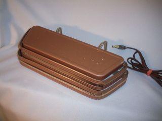 Machine Age Art Deco Louvered Metal Headboard Head Board Lamp With Clips photo