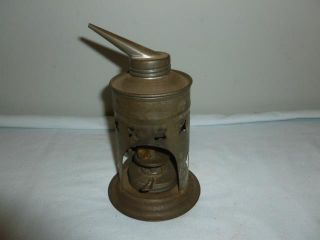 Antique Simplex Lamp Co.  Unusual Oil Burner Medical Steam Vaporizer Complete - Bl photo
