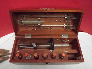 Syringe (whitney) Gas Syringe Apparatus (mahogany Case) C1960 (philip Harris) photo