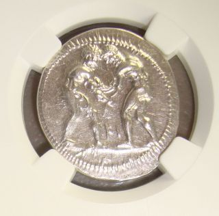 Ca.  370 - 330 Bc Pamphylia,  Aspendus Ancient Greek Silver Stater Ngc Ch Au 4/5 4/5 photo