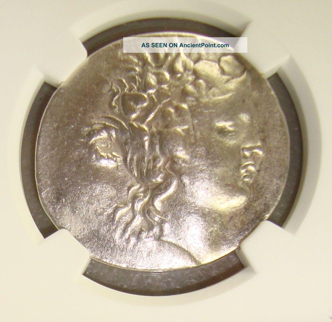168 - 148 Bc Thrace,  Thasos Ancient Greek Silver Tetradrachm Ngc Vf Greek photo