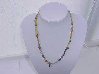 String Roman Mixed Coloured Glass Beads Circa 100 - 400 A.  D. photo