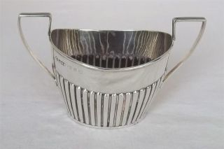 An Antique Solid Sterling Silver Victorian Twin Handled Sugar Bowl Dates 1897. photo