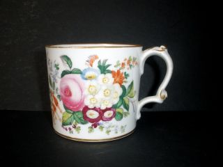 Antique 19th Century English Porcelain Floral Coffee Can Cup With Vivid Colors photo