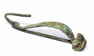 Celtic Bronze La Tene Brooch / Fibula - Ancient Historic Artifact Lovely - B190 photo