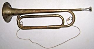 Antique Model 1892 Us Regulation Bugle photo