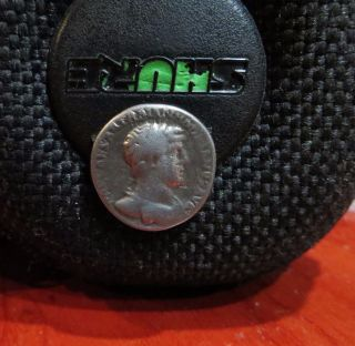 Ancient Roman Imperial Coin.  Silver Ar Denarius. photo