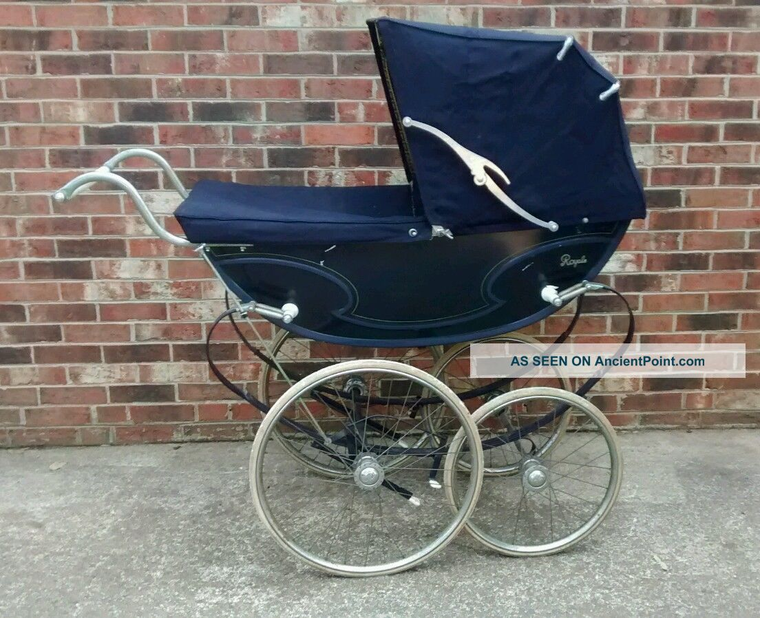Vintage English Baby Pram By Royale Buggy Stroller Baby Carriages & Buggies photo