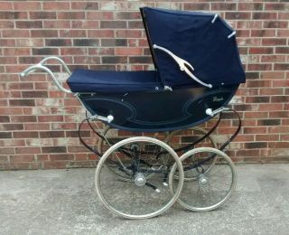 Vintage English Baby Pram By Royale Buggy Stroller photo