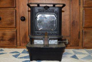 Antique Royal No 1 Cast Iron Stove Sad Iron Heater Tabletop Burner Kerosene Lamp photo