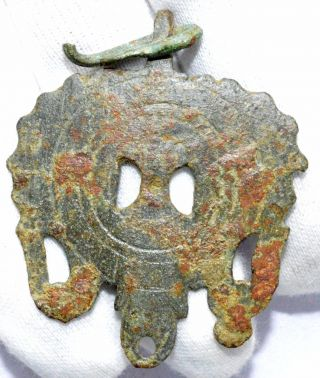 Roman Bronze Cavalry Horse Harness Pendant Equestrian - Wearable Artifact - B178 photo