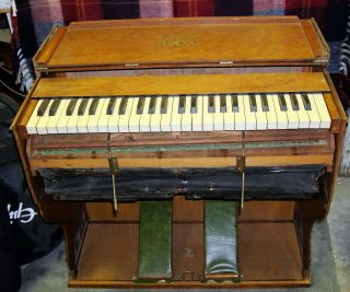 Bilhorn Telescope Style 3 Folding Reed Pump Organ Possibly 1902 - 1903 photo