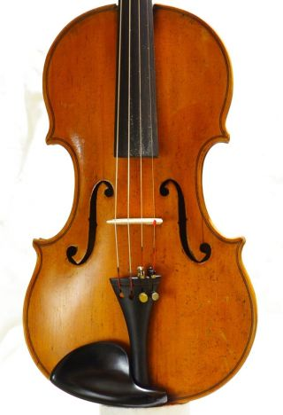 Vintage Italian Labeled Violin Ansaldo Poggi Bologna 1947 photo