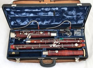 R.  Lange Wiesbaden German Bassoon 9 Rollers (heckel Biebrich 8000 Series) photo